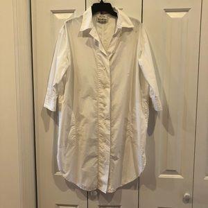 Acne Studio White Long Lash Shirt Dress